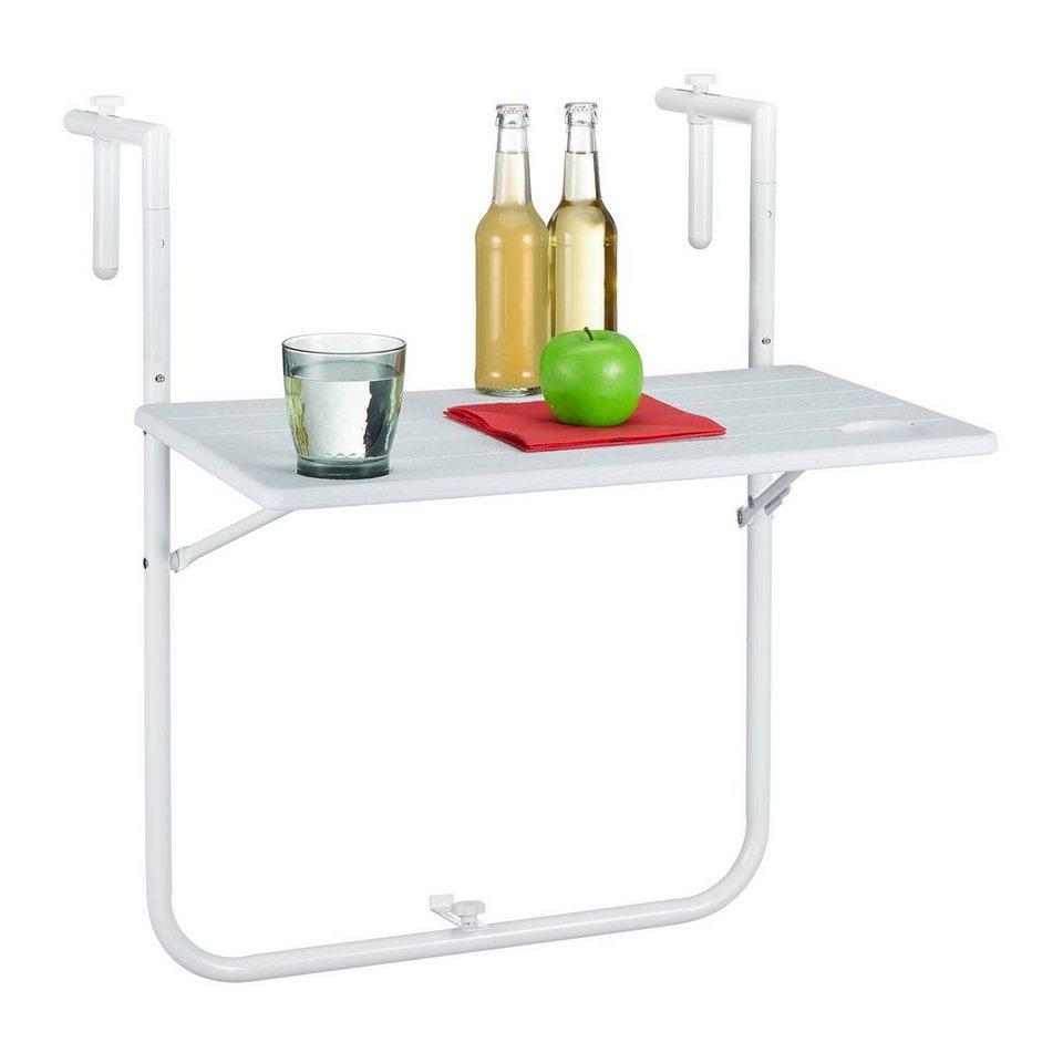 Závesný stôl na balkón RD5751, biely