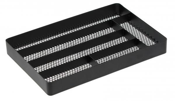 Priehradky do zásuvky Yamazaki Tower Cutlery Tray, čierne