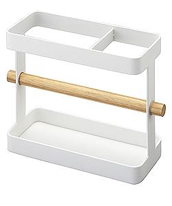 Stojanček na kuchynské nástroje Yamazaki Tosca, biely