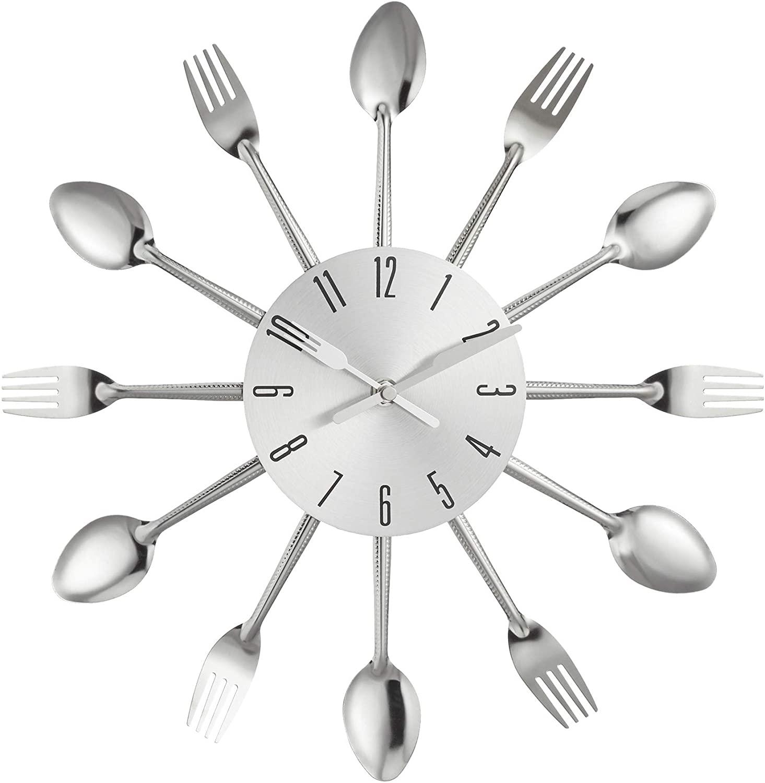 Nástenné kuchynské hodiny Príbor zent 2645, 25 cm, strieborné