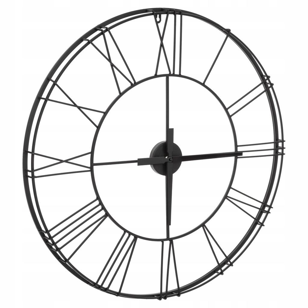 Nástenné kovové hodiny Atmosphera Vintage 977A, 70 cm, čierne